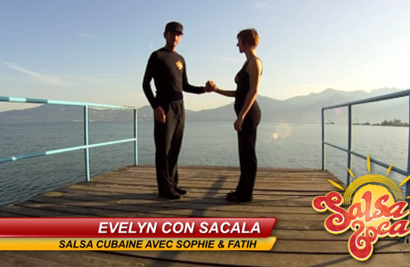 Evelyn con sacala